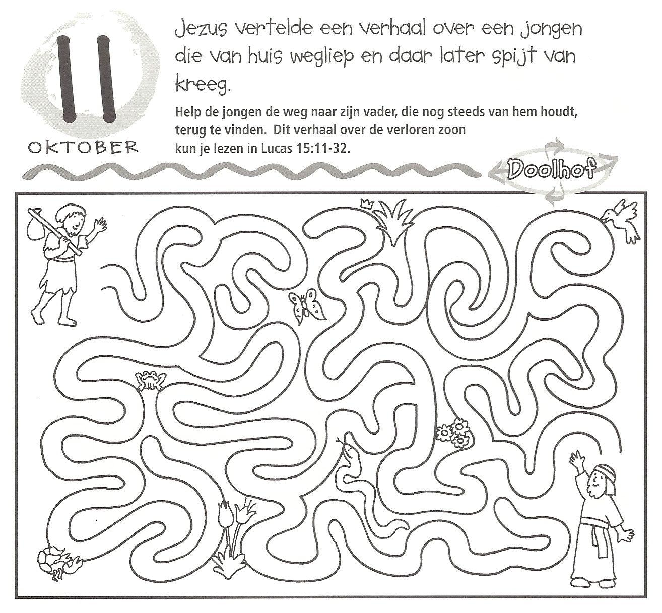 Doolhof Verloren Zoon Maze Prodigal Son Verloren Zoon Doolhof Kleurplaten Voor Kinderen