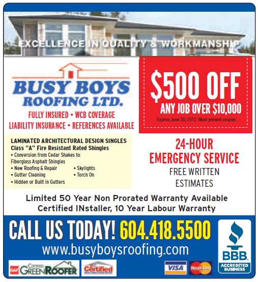 Busy Boys Roofing Roofing Emergency Service Shingling