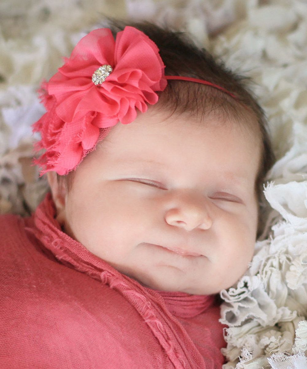 Look at this Olivia Rae Hot Pink Swaddle Wrap and Headband