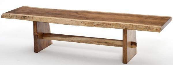 Google Image Result For Http://www.woodlandcreekfurniture.com /graphics/Natural%2520Furniture%2520Live%2520Edge%2520Slab%2520Bench%2520with%2520Trestle