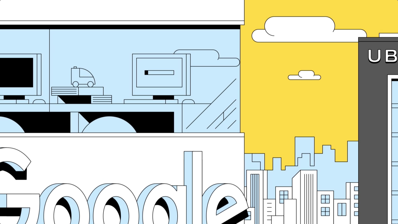 Uber and Waymo Illustration for VICE News Award