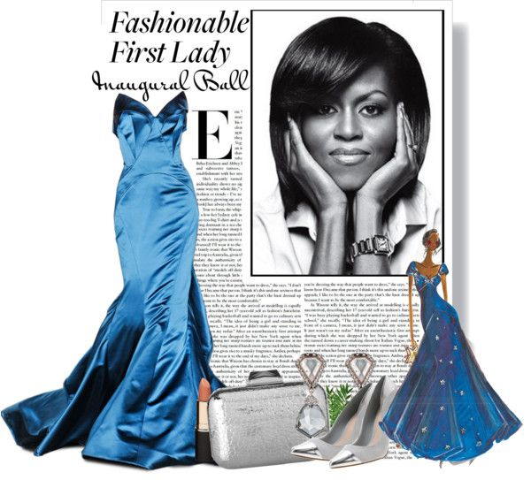 """Michelle Obama Haute Couture Inaugural Ball"" by from-theinside ❤ liked on Polyvore"