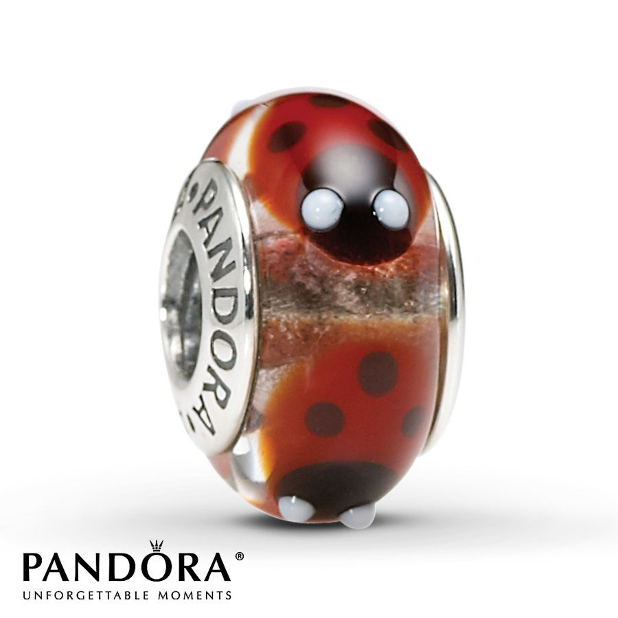 Pandora Charms Jared Galleria Of Jewelry: Pandora Glass Charm Red Ladybugs Sterling Silver