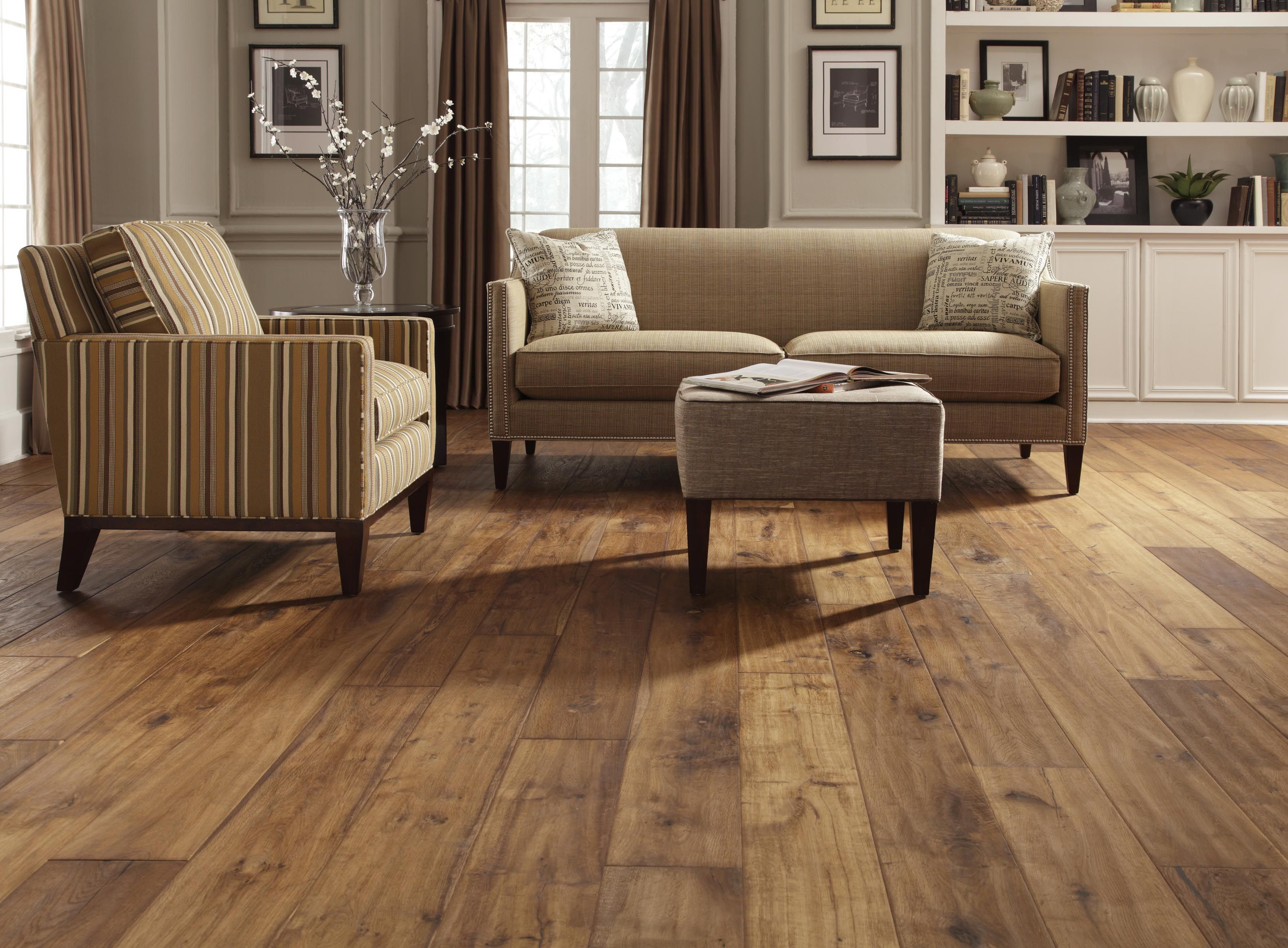 Wide plank laminate... Love this color or darker. Love the