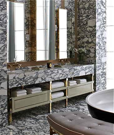David Collins marble clad stone bathroom #topbathrooms