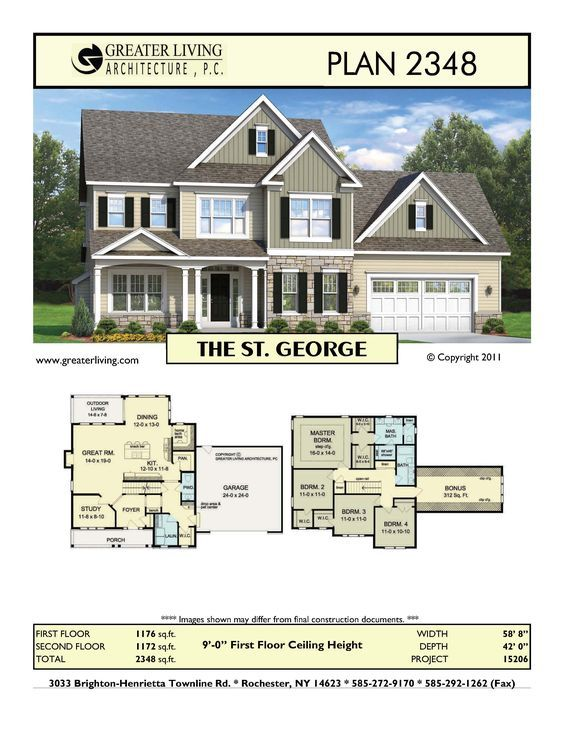 Plan 2348 The St George House Plans Two Story House Plans 2 Story Greater Living Archit Family House Plans Craftsman House Plans Sims House Plans