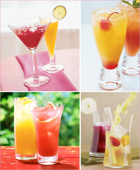 Summer Cocktails Red Yellow Peach Schnapps Drinks Summer