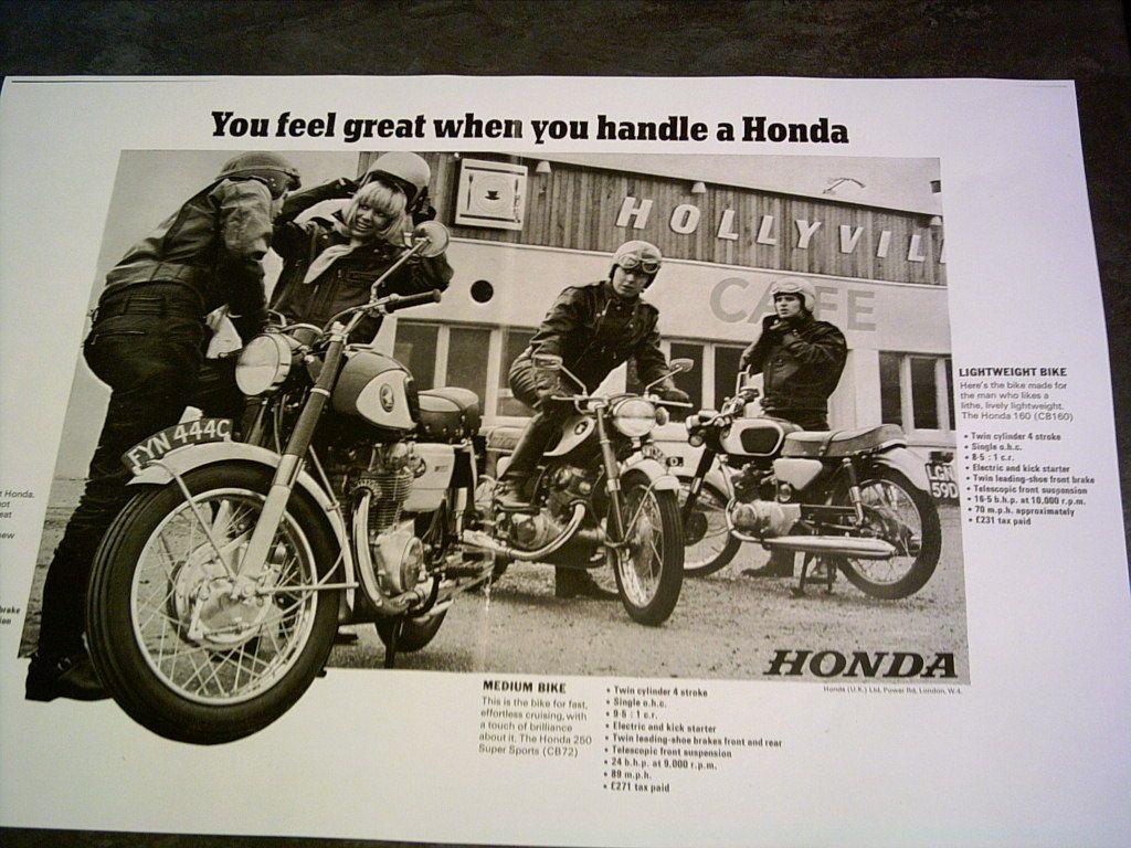 Honda CB 450 Black Bomber Sales Ads Road Tests Facsimile On 8 Sheets 1966