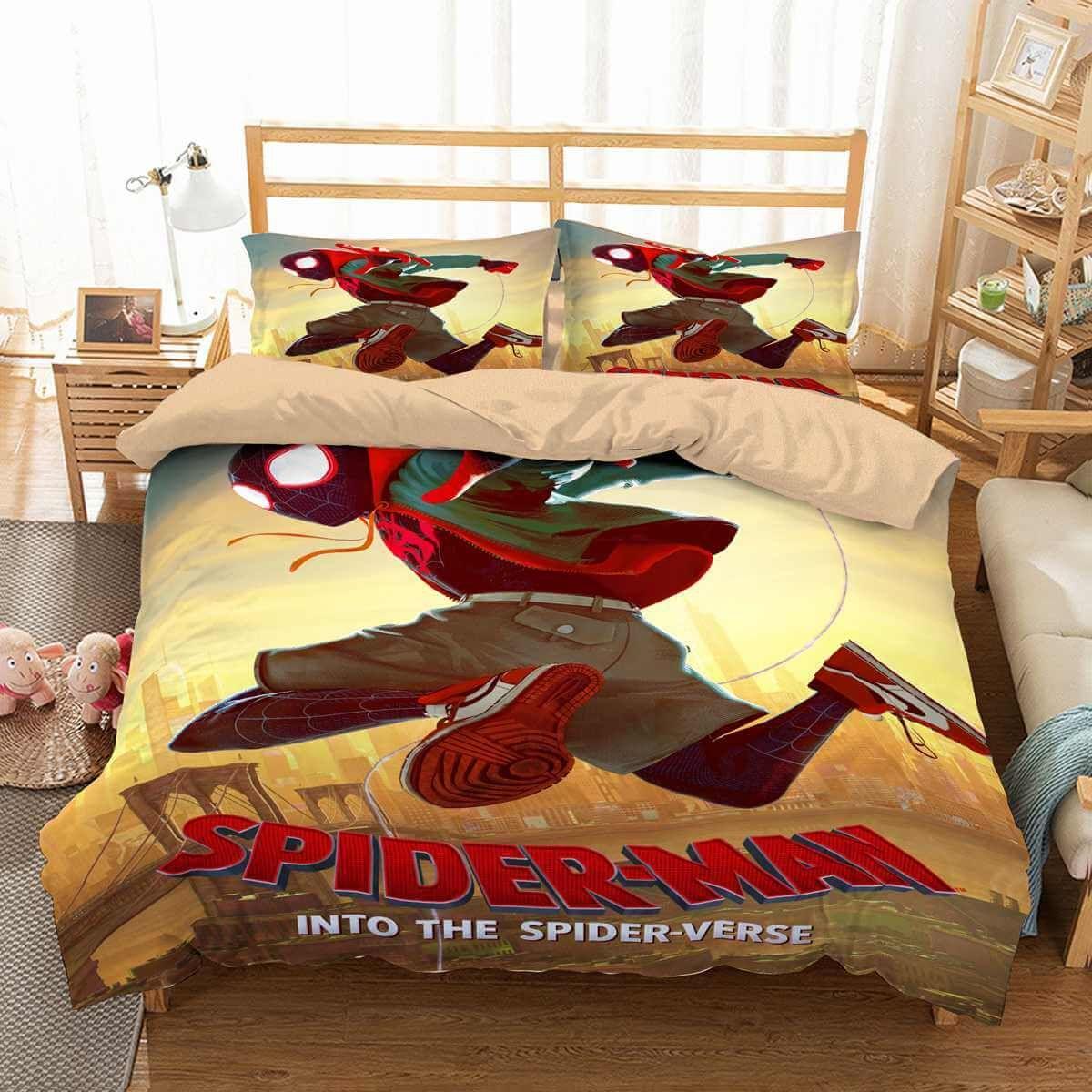 0a03898d472e 3D Customize Spider-Man Into the Spider-Verse Bedding Set Duvet Cover Set  Bedroom Set Bedlinen