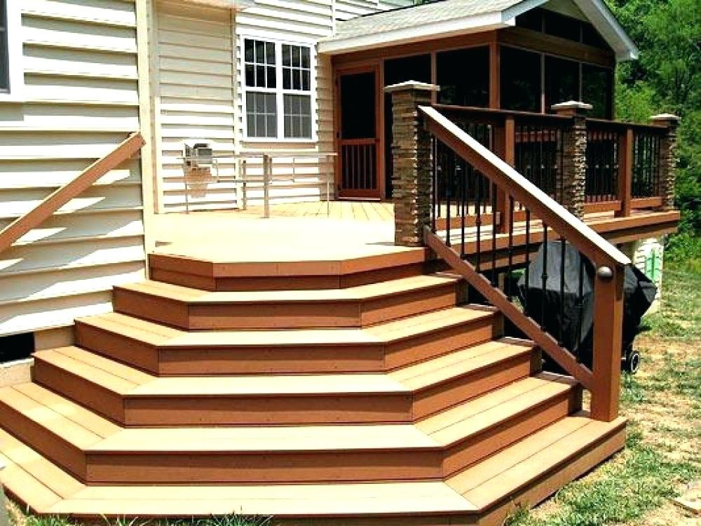 Front Back Porch Design I Want Done For Entrances In 2020 Exterior Stairs Deck Stairs Front Door Steps
