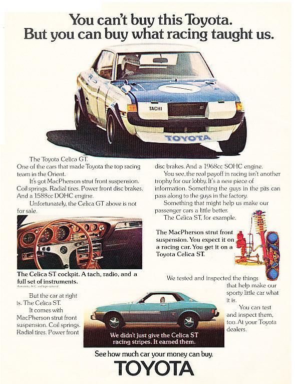 Toyota Celica ta22 GT ad