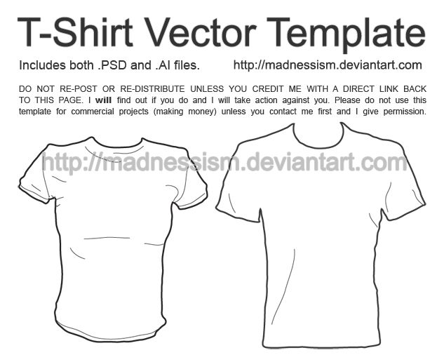 Download T Shirt Vector Template By Madnessism On Deviantart Shirt Template Shirts T Shirt