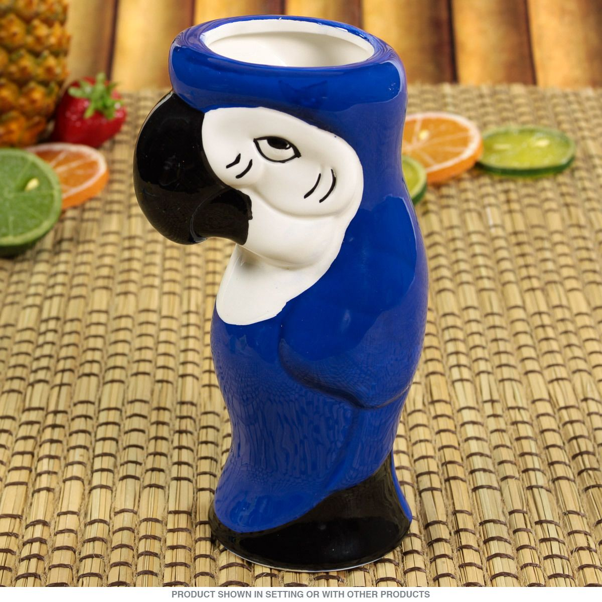0de61684e Blue Parrot Ceramic Tiki Mug | Tiki Cocktail Glasses | RetroPlanet.com