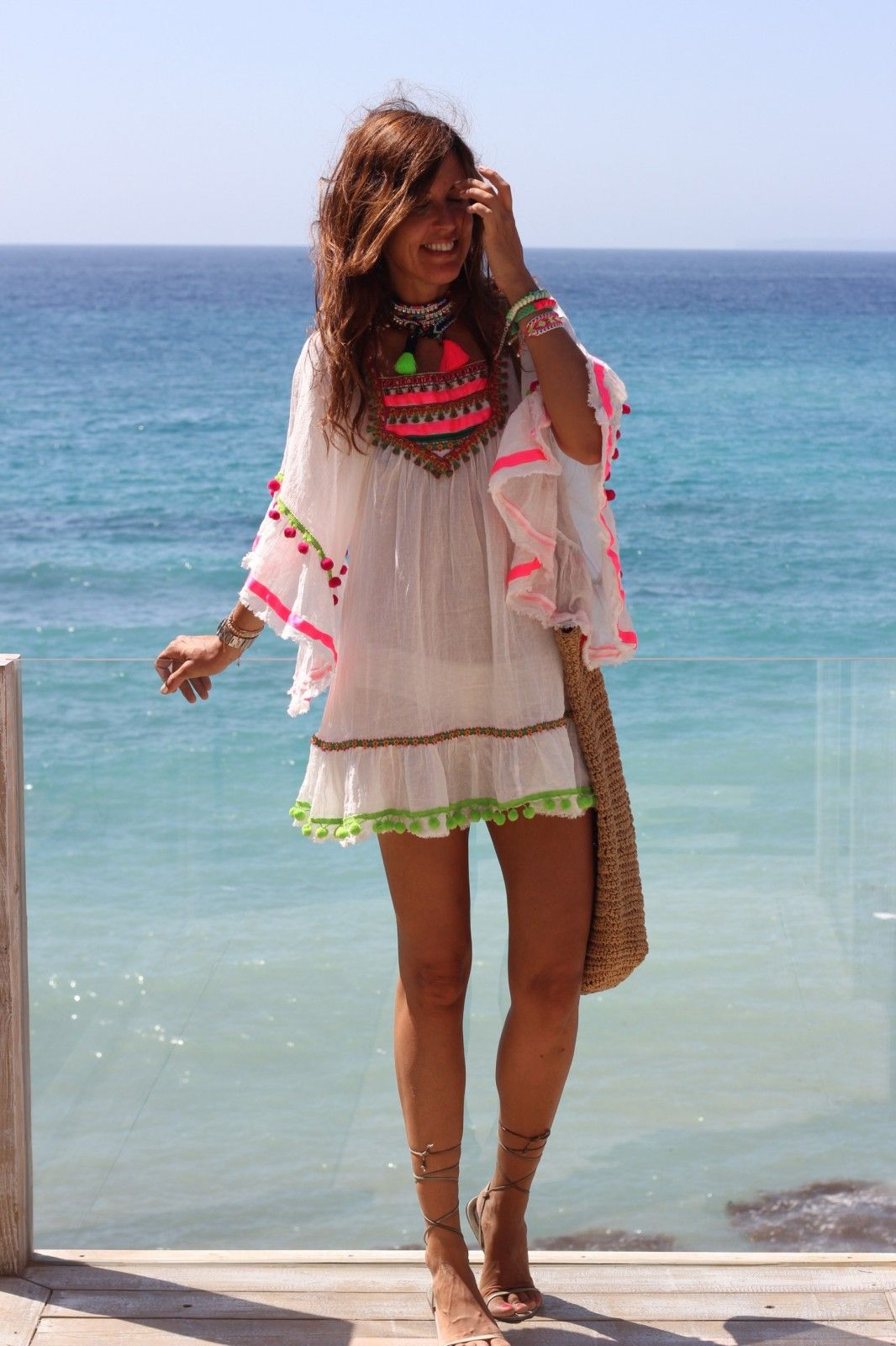 485fc4d6 Kaftán mariposa rosa fluor – Ibiza Trendy | Tienda online | Online store
