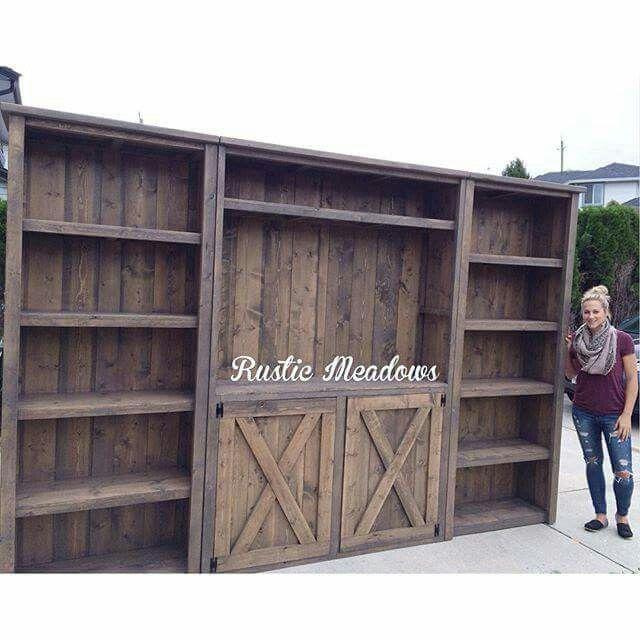 Rustic wall entertainment center | DIY Ideas | Pinterest ...