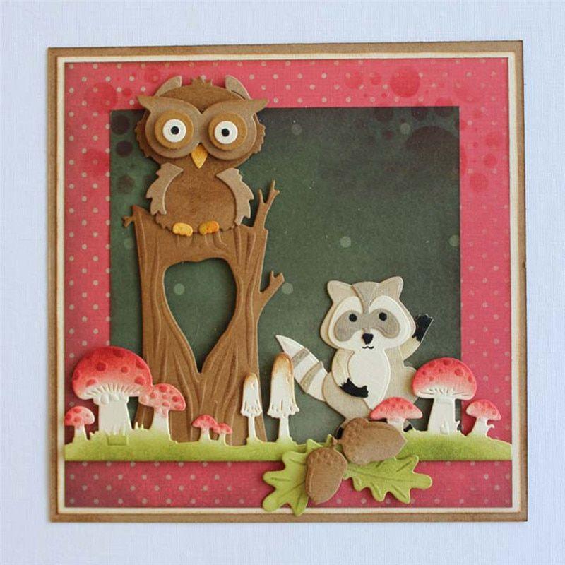 Cute Christmas Dog Metal Cutting Dies Stencil Scrapbook Card Embossing Crafts