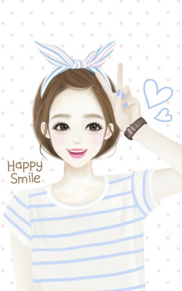 Korean cute Love Wallpaper : art, background, cool, cute, girl, i love, kawaii, korean, wallpaper, First Set on Favim.com ...