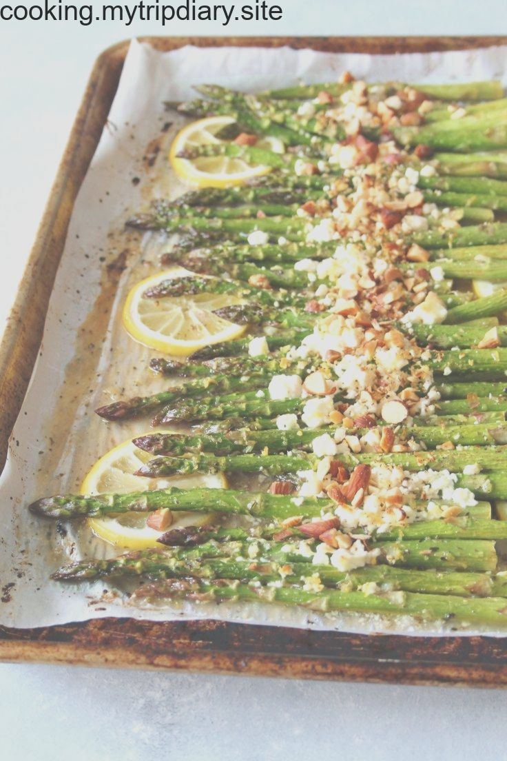 Honey-Lemon Roasted Asparagus with Feta & Almond (veg) Honey-Lemon Roasted Asparagus with Feta & Almond (veg),