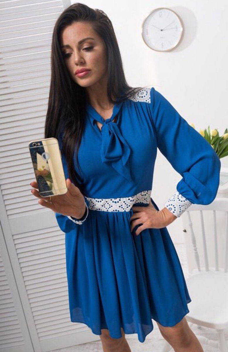 c4b0899473 Lola Lena sukienka chabrowa Przepiękna sukienka z najnowszej kolekcji  polskiej marki Lola Fashion