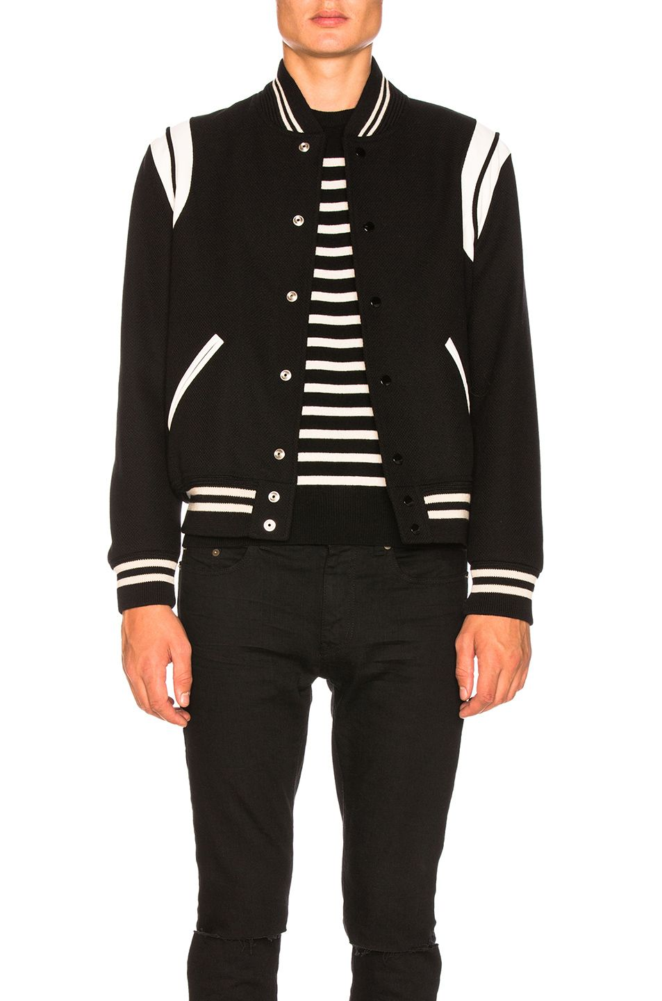 6cc2d6102 SAINT LAURENT Teddy Bomber Jacket. #saintlaurent #cloth # | Saint ...