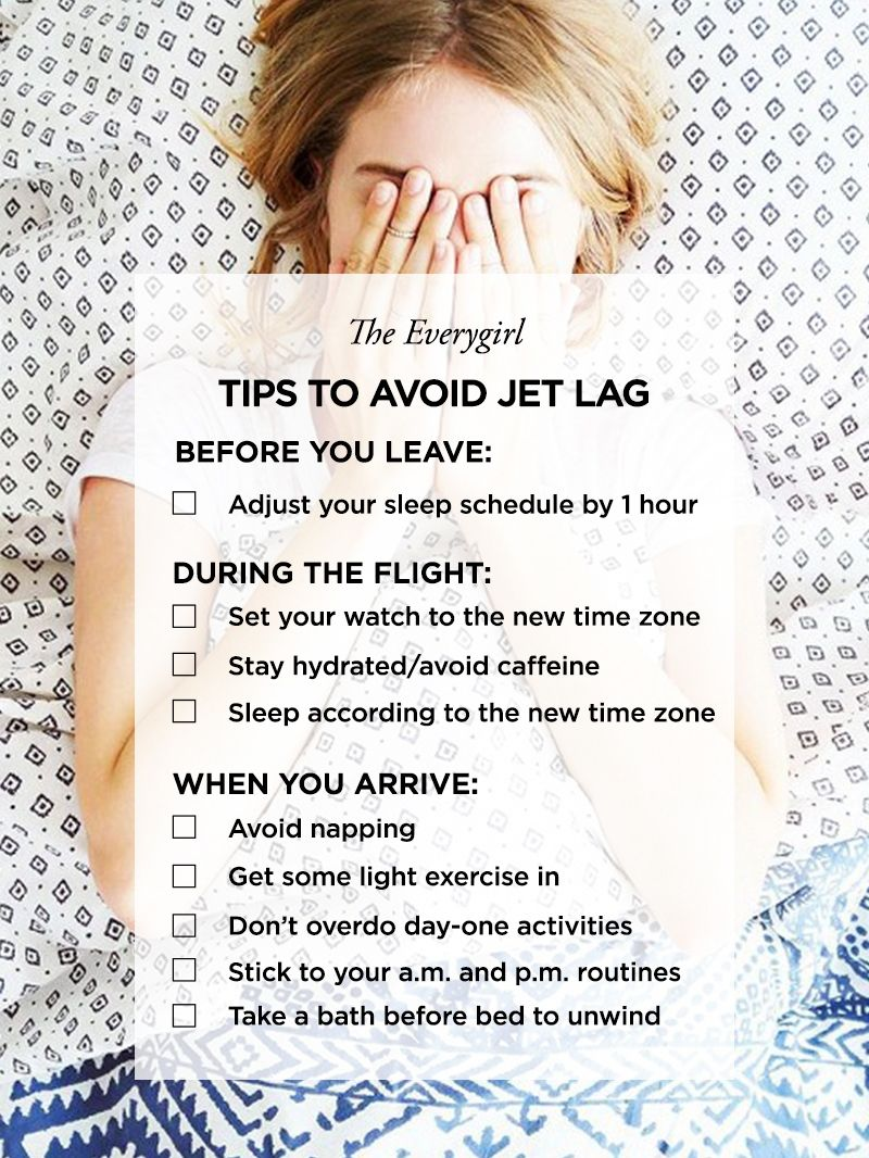 How To Avoid And Recover From Jet Lag The Everygirl Jet Lag Packing Tips For Travel Travel Tips