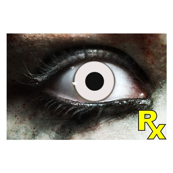 1c785ead508 Zombie White Contact Lenses ❤ liked on Polyvore featuring accessories