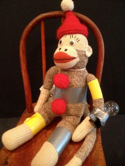 Vince by manymonkeys on Etsy #VintageSockMonkey #KellysSockMonkeyMania