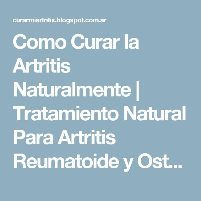 dieta para tratar la artritis