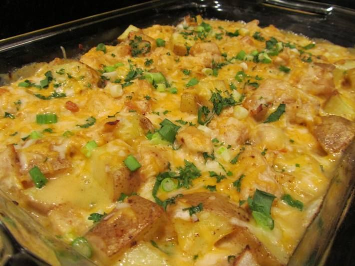 Loaded Potato-Chicen Bake