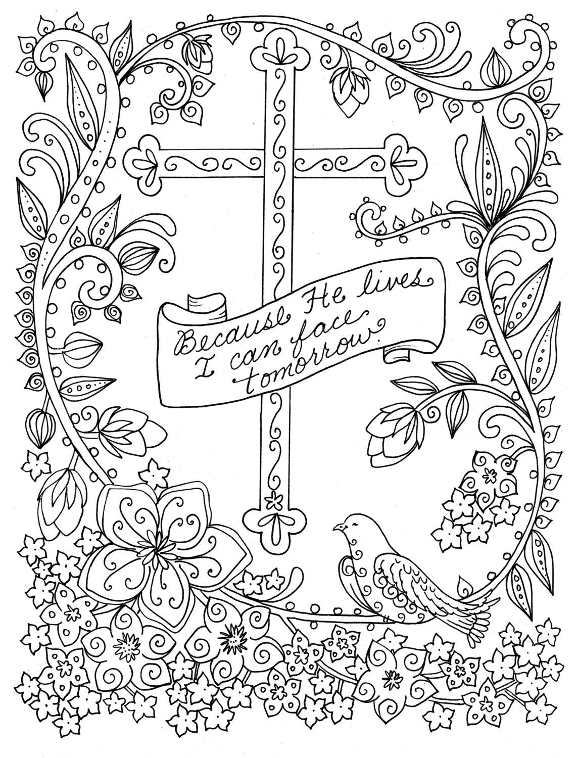 5 Digital Pages Of Crosses To Color Instant Download Digi Etsy In 2020 Bible Coloring Pages Bible Verse Coloring Page Easter Coloring Pages