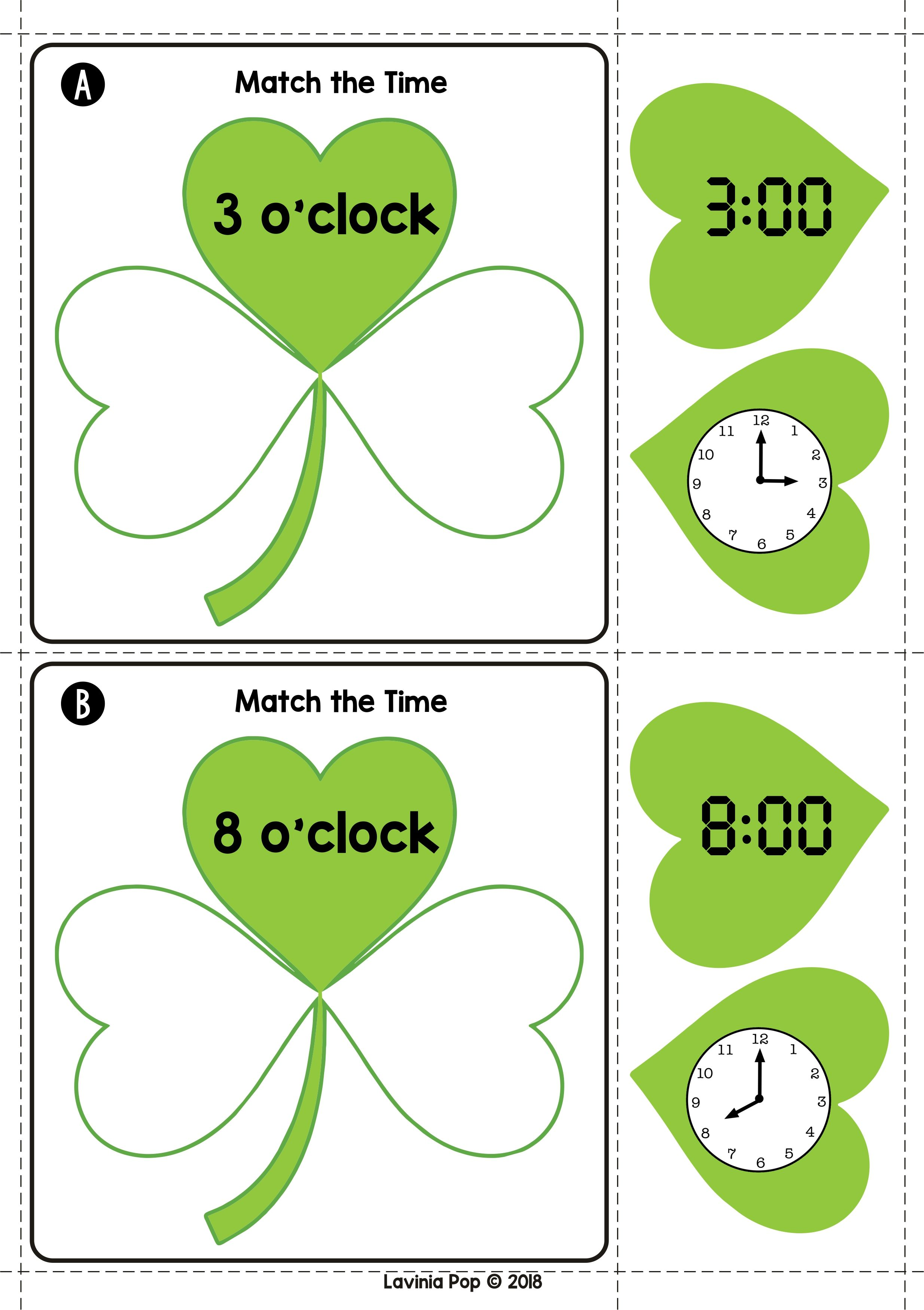 St Patrick S Day Math Centers For Kindergarten With