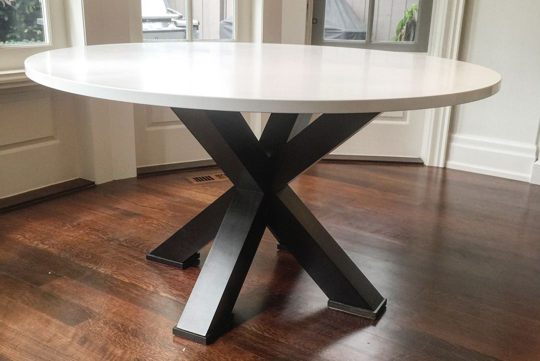 Pure White Caesarstone Quartz Custom Table Top Artistic Stone Design Custom Table Top Table Caesarstone Quartz