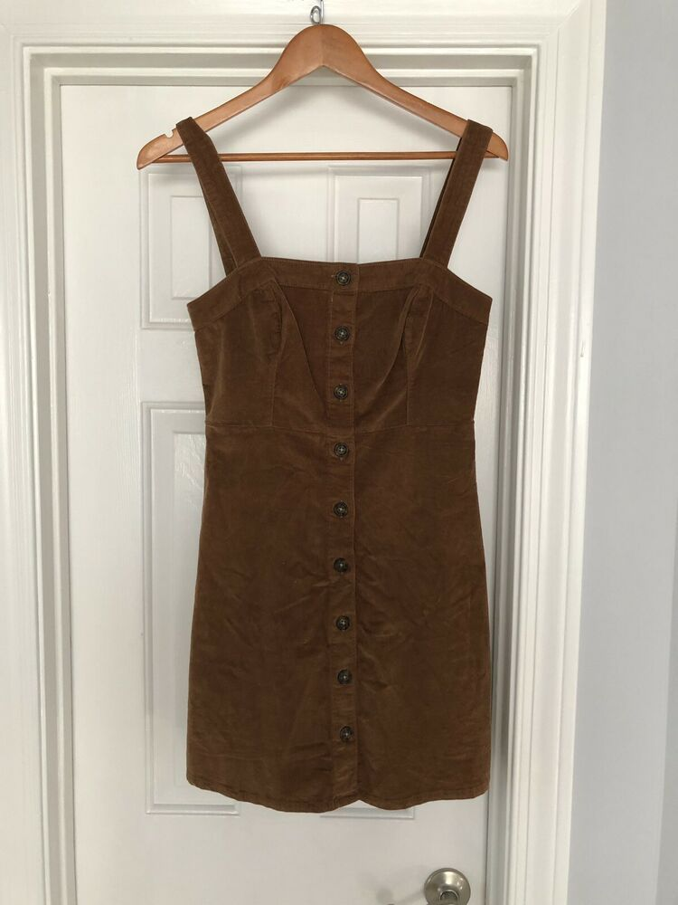cheaper popular stores innovative design Hollister Brown Corduroy Dress #fashion #clothing #shoes ...