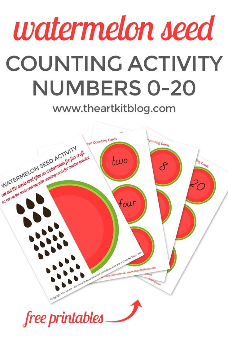 Watermelon Seed Counting Activity For Kids Counting Activities Printables Free Kids Activities For Kids [ 1104 x 736 Pixel ]