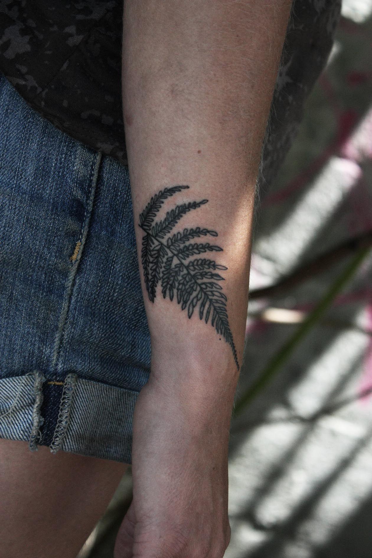 I Love This Fern Leaf No Significance That I Know Of I Just Like It Fern Tattoo Tattoos Metal Tattoo
