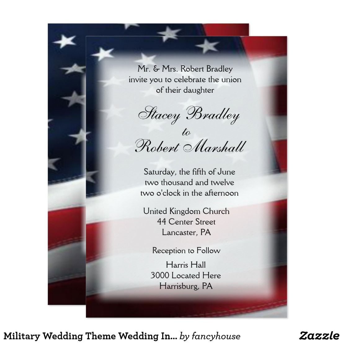 Military Wedding Theme Wedding Invitations 5\