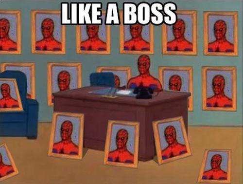 spiderman meme | 60s-spiderman-meme-boss