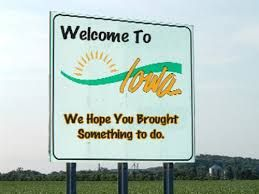 Image result for US state line welcome sign iowa images