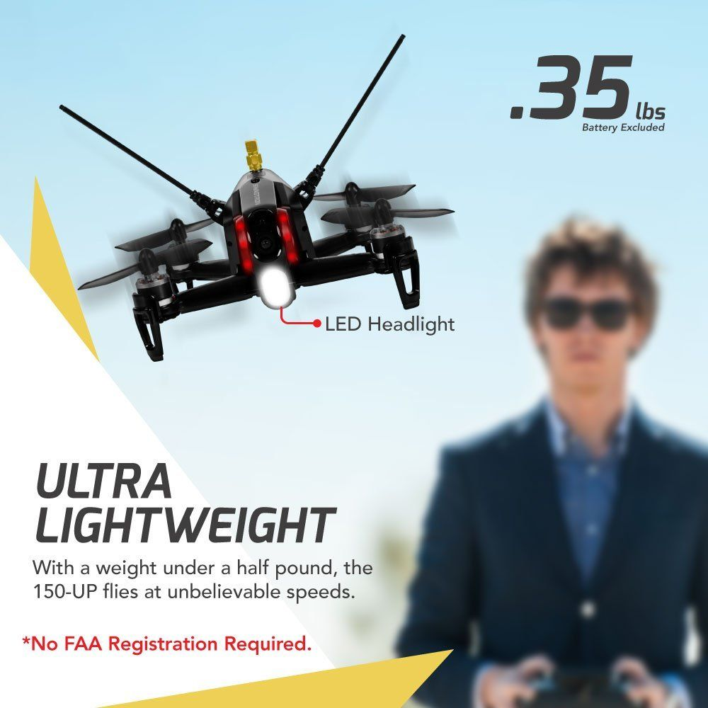 Amazon com: SWAGTRON SwagDrone 150-UP FPV Racing Drone With