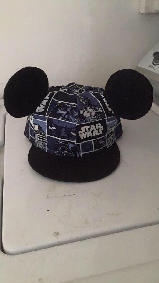 Star Wars Cap/with Mickey Ears Handmade