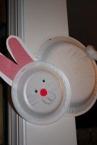 Styrofoam plate bunny--easy craft for the kids | Easy ...