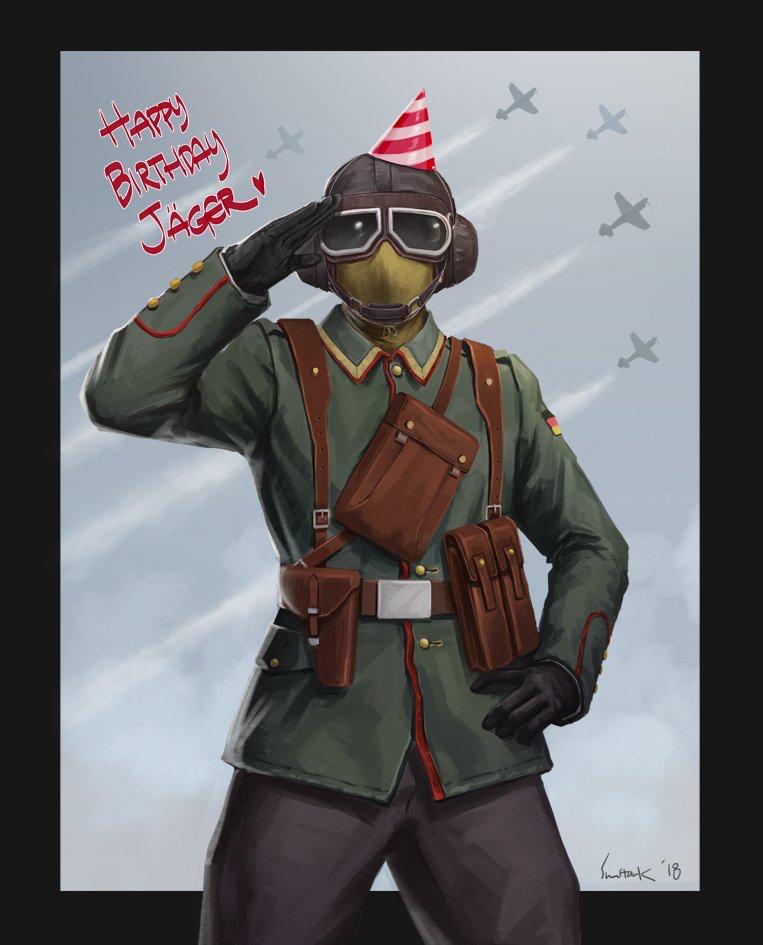 Happy birthday, Jäger! by @cpt_sunstark on Twitter   Rainbow