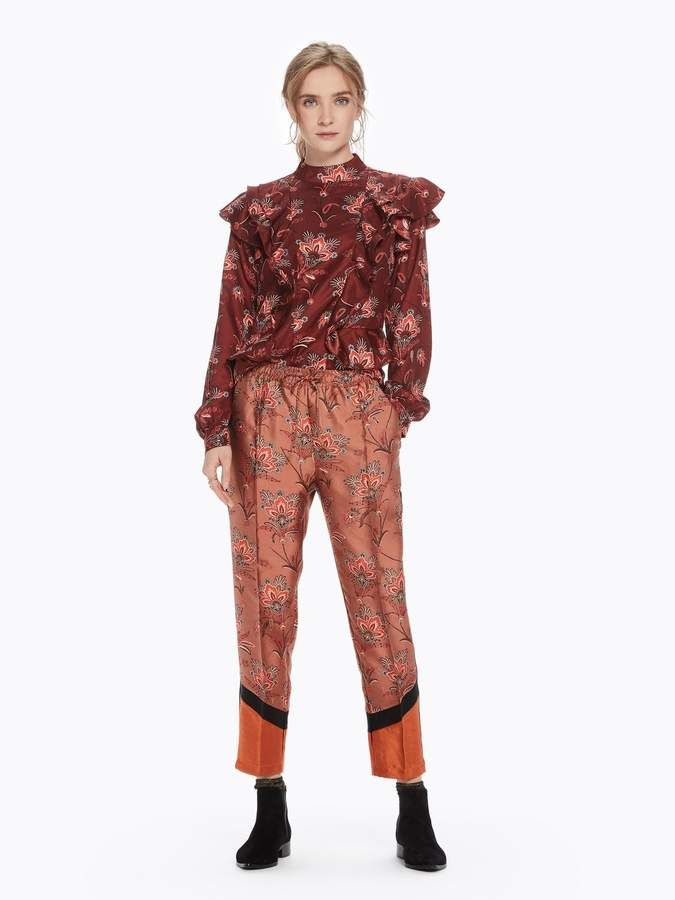 fantastic savings brand new coupon codes Floral Color Block Trousers | Pants, Fashion joggers ...