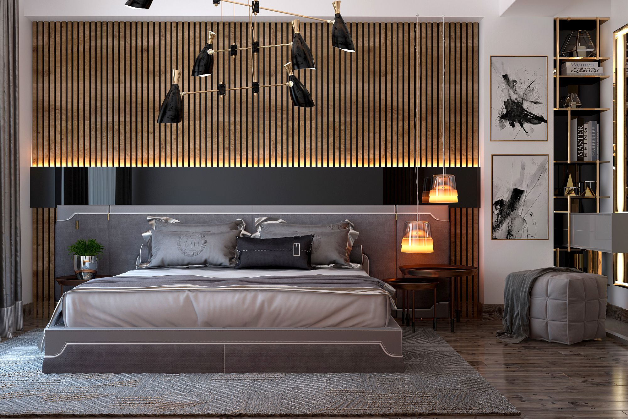Check Out This Behance Project Modern Bedroom Https Www Behance Net Gallery 60096095