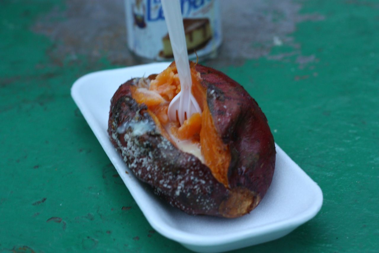 Baked, Sugar-Dusted Sweet Potato w/ Condensed Milk | Mexico Travel ...