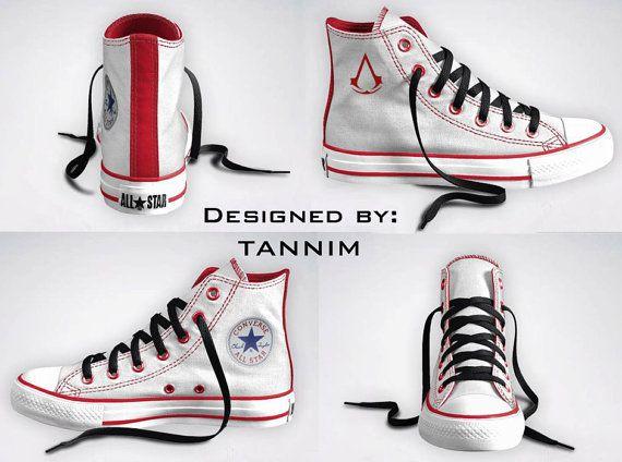 3fe7e1e16d05 Custom Assassin s Creed Converse Chucks by Tannim on Etsy