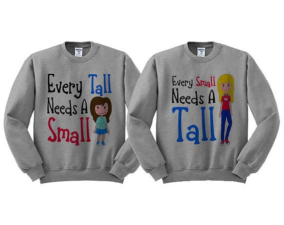 Grey Crewneck  Small And Tall Duo  Best by TeesAndTankYouShop