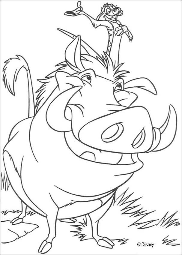 The Lion King Coloring Pages Timon The Singer Coloring Pages