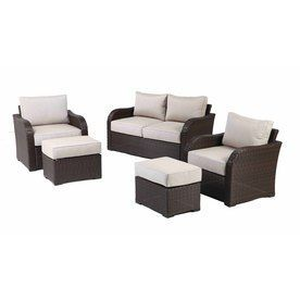 Allen + Roth Northborough 5 Piece Aluminum Patio Conversation Set  710.146.020