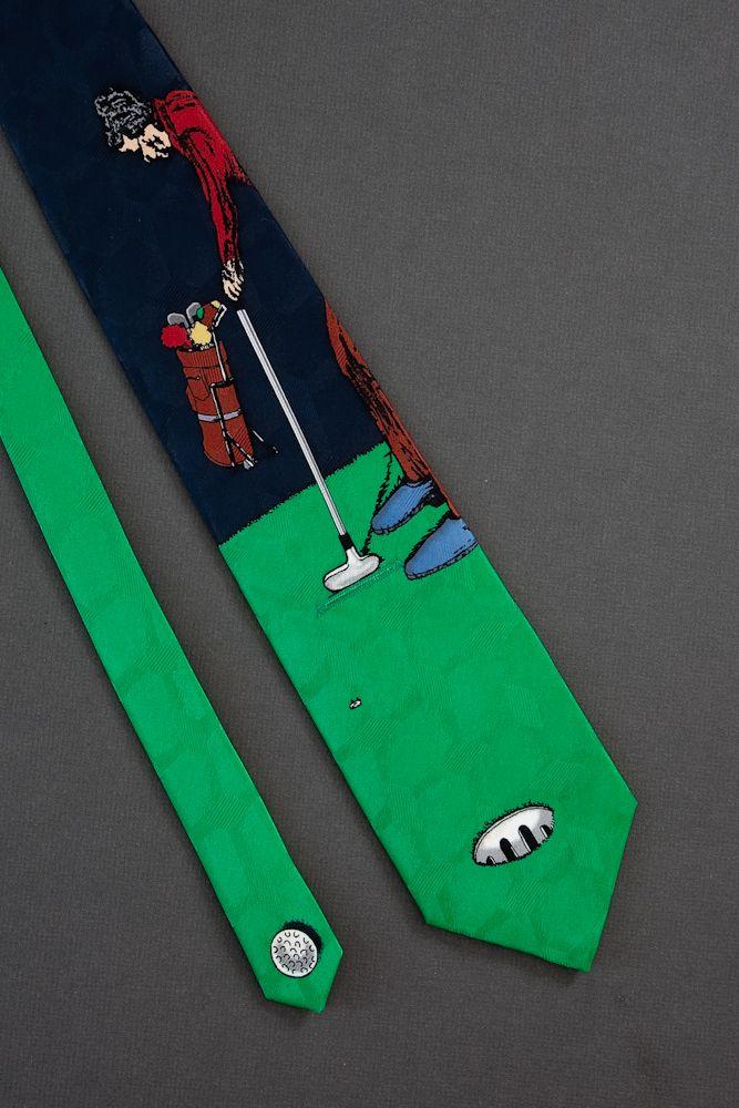 Golfer Putting - Pull Through Slice of Life Tie - Part 1 $35.00